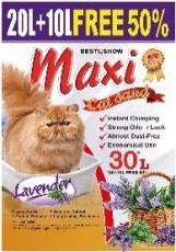 Pasir Kucing Maxi Cat Sand Lavender 30 Liter