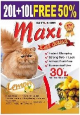 Pasir Kucing Maxi Cat Sand Lemon 30 Liter