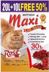 Pasir Kucing Maxi Cat Sand Rose 30 Liter