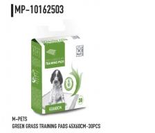 Underpad M-Pets Green Grass Puppy  Training Pads M 45cm x 60cm 30pcs