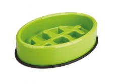 Mangkuk M-Pets Fishbone Slow Feed Oval Bowl 27,5x19,7x6 cm 10504008
