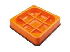 Mangkuk M-Pets Waffle Slow Feed Square Bowl 25x25x5.5cm 10504117
