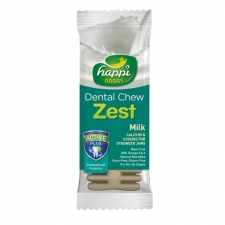 Snack Anjing Happi Doggy Dental Chew Zest Milk Gluten Free
