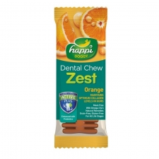 Snack Anjing Happi Doggy Dental Chew Zest Orange Gluten Free