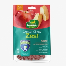 Snack Anjing Happi Doggy Dental Chew Zest Petite Gluten Free Apple 150g