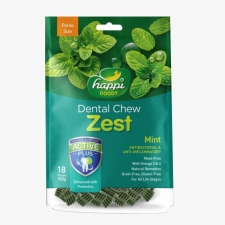 Snack Anjing Happi Doggy Dental Chew Zest Petite Gluten Free Mint 150g
