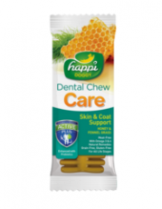 Snack Anjing Happi Doggy Dental Chew Zest Skin & Coat Support Fennel Grass & Honey