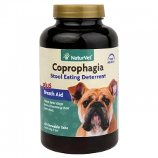 NATURVET COPROPHAGIA STOOL EATING DETERRENT PLUS BREATH AID TAB