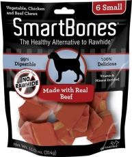 SNACK ANJING SMARTBONES BEEF 6 SMALL