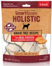 SNACK ANJING SMARTBONES HOLISTIC WITH REAL CHICKEN 6 SMALL
