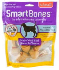 SNACK ANJING SMARTBONES BACON & CHEESE 6 SMALL