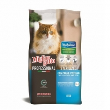 Makanan Kucing Migliorgatto Nutribene Professional Sterilized Chicken and Veal 1.5kg 09811