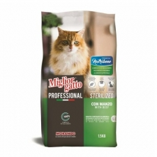 Makanan Kucing Migliorgatto Professional Nutribene Sterilized with Beef 1.5kg 09813