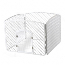 Kandang Pagar Pet Four Piece Fence Safety Zone 100x100x75cm BP161 Putih
