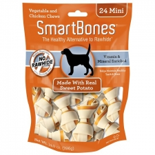 SNACK ANJING SMARTBONES SWEET POTATO 24MINI