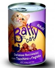 Makanan Kucing Kaleng Baffy Cat Turkey & Liver 415gr