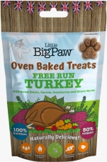 Oven Baked Treats Free Run Turkey for Dogs 130g
