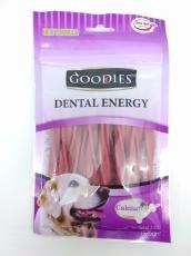 Snack Anjing Goodies Dental Energy Treat Tripple Twist Shape Lamb 125gr