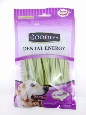 Snack Anjing Goodies Dental Energy Treat Tripple Twist Shape Chlorophyl 125gr