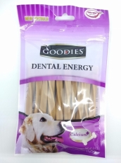Snack Anjing Goodies Dental Energy Treat Tripple Twist Shape Liver 125gr