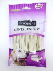 Snack Anjing Goodies Dental Energy Treat Tripple Twist Shape Milk 125gr