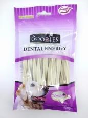 Snack Anjing Goodies Dental Energy Treat Tripple Twist Shape Milk 125gr