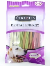 Snack Anjing Goodies Dental Energy Treat Tripple Twist Shape Mix 125gr