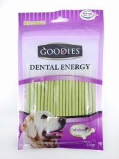 Snack Anjing Goodies Dental Energy Treat Stick Shape Chlorophyl 125gr