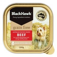 Makanan Basah Anjing BlackHawk Grain Free Beef 100gr