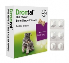 Obat Cacing Anjing Drontal Dog Tablets
