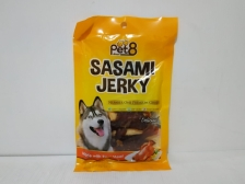 Pet8 Sasami Jerky Dry Mini Chicken With Inner Milk Stick 50gr
