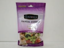 Snack Anjing Goodies Dental Energy Cut Bone Shape Mix 125gr