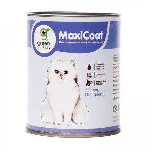 Vitamin Bulu Kucing Green Pett MaxiCoat Cat 500mg 100 tab