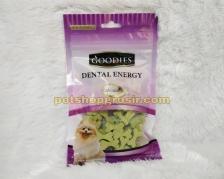 Snack Anjing Goodies Dental Energy Cut Bone Shape Chlorophyl 125gr