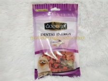 Snack Anjing Goodies Dental Energy Cut Bone Shape Lamb 125gr