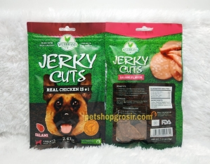 Snack Anjing / Dog Treats Wujibrand Jerky Cuts Salami 70gr