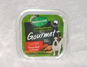 Makanan Basah / Kornet Anjing Nature's Gift Gourmet Prime Beef in Gravy Loaf Style 100gr