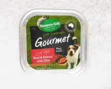 Makanan Basah / Kornet Anjing Nature's Gift Gourmet Beef & Kidney with Chia Loaf Style 100gr