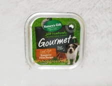 Makanan Basah / Kornet Anjing Nature's Gift Gourmet Kangaroo Filltet Recipe Loaf Style 100gr