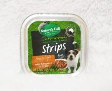Makanan Basah / Kornet Anjing Nature's Gift Strips with Kangaroo in Gravy Gravy Style 100gr