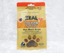 Snack Anjing Grain Free Zeal Treats Free Range Naturals Veal Meaty Bites 125gr