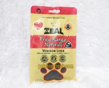 Snack Anjing Grain Free Zeal Treats Free Range Naturals Venison Liver 125gr
