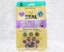 Snack Anjing & Kucing Grain Free Zeal Treats Wild Caught Naturals Hoki Fish Skins 125gr
