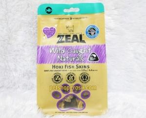 Snack Anjing & Kucing Grain Free Zeal Treats Wild Caught Naturals Hoki Fish Skins 125gr