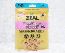Snack Anjing & Kucing Grain Free Zeal Treats Free Range Naturals Chicken & Beef Morsels 100gr