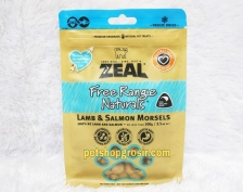 Snack Anjing & Kucing Grain Free Zeal Treats Free Range Naturals Lamb & Salmon Morsels 100gr