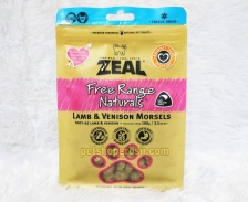 Snack Anjing Kucing Grain Free Zeal Treats Free Range Naturals Lamb & Venison Morsels 100gr