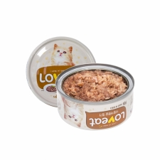 Makanan Basah / Kaleng Kucing Loveat Catfood White Meat of Tuna 90gr