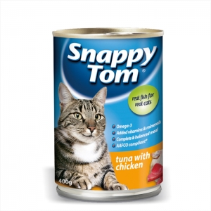 Makanan Basah / Kaleng Kucing Snappy Tom Tuna with Chicken 400gr