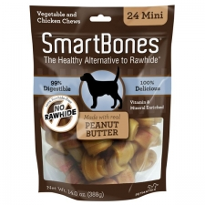 Snack Anjing Smart Bones Peanut Butter 24 Mini